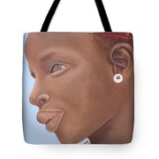 Brown Introspection Tote Bag by Kaaria Mucherera