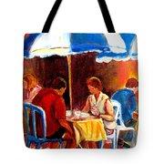 Brunch At The Ritz Tote Bag by Carole Spandau