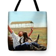 Bucky Gets The Bull Tote Bag by Tom Roderick