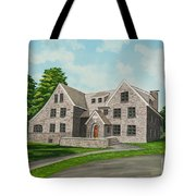 Bunch House Tote Bag by Charlotte Blanchard