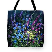 Bunch Of Wild Flowers Tote Bag by Pol Ledent
