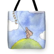Bunny With A Kite Tote Bag by Christy Beckwith