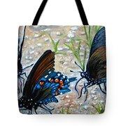 Butterflies Original Oil Painting Tote Bag by Natalja Picugina