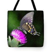 Butterfly And Thistle Tote Bag by Jeff Kolker