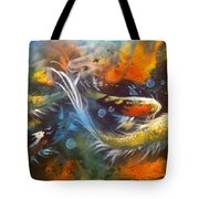 Butterfly Koi Dance Tote Bag by Gloria Avner