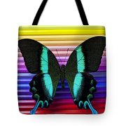 Butterfly On Colored Pencils Tote Bag by Garry Gay
