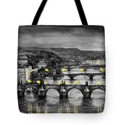 Bw Prague Bridges Tote Bag by Yuriy  Shevchuk