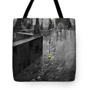 BW Prague Charles Bridge 01 Tote Bag by Yuriy  Shevchuk