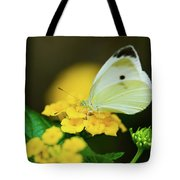 Cabbage White Butterfly Tote Bag by Betty LaRue