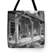 Cabin On The Hill Tote Bag by Tom Mc Nemar
