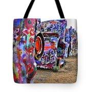 Cadillac Ranch Tote Bag by Angela Wright