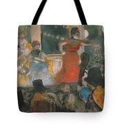 Cafe Concert At Les Ambassadeurs Tote Bag by Edgar Degas