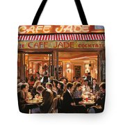 Cafe Jade Tote Bag by Guido Borelli