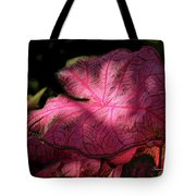 Caladium Mystery Tote Bag by Suzanne Gaff