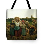 Calling In The Gleaners Tote Bag by Jules Breton