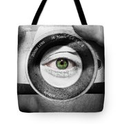Camera Face Tote Bag by Semmick Photo