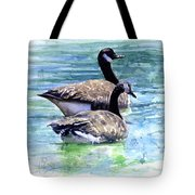 Canada Geese Tote Bag by John D Benson