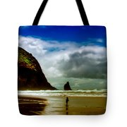 Cannon Beach at Dusk III Tote Bag by David Patterson
