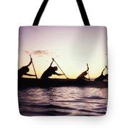 Canoe Race Tote Bag by Bob Abraham - Printscapes