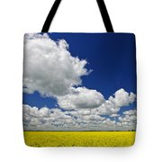 Canola field Tote Bag by Elena Elisseeva
