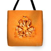 Cantaloupe Melon Inside Tote Bag by Johan Swanepoel