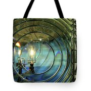 Cape Blanco Lighthouse Lens Tote Bag by James Eddy