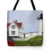 Cape Neddick Light Tote Bag by Luke Moore