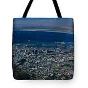 Capetown South Africa Aerial Tote Bag by Sandra Bronstein