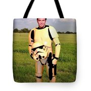 Captain James T Kirk Stormtrooper Tote Bag by Paul Van Scott