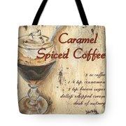 Caramel Spiced Coffee Tote Bag by Debbie DeWitt