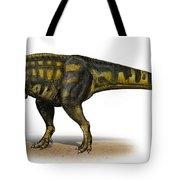 Carcharodontosaurus Iguidensis Tote Bag by Sergey Krasovskiy
