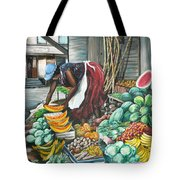 Caribbean Market Day Tote Bag by Karin  Dawn Kelshall- Best