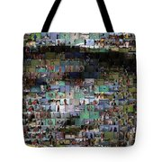 Carl Caddyshack Mosaic Tote Bag by Paul Van Scott