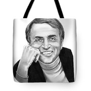 Carl Sagan Tote Bag by Murphy Elliott
