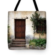 Carmel Mission Door Tote Bag by Carol Groenen