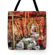 Carnival - The Carousel - Painted Tote Bag by Mike Savad