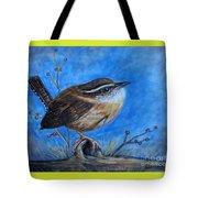 Carolina Wren Tote Bag by Patricia L Davidson