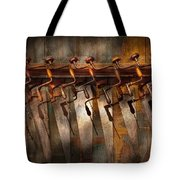 Carpenter  - Saws And Braces  Tote Bag by Mike Savad