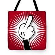 Cartoon Finger Tote Bag by Tony Rubino