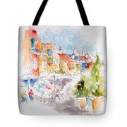 Cassis Along The Promenade Tote Bag by Pat Katz