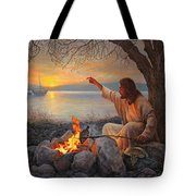 Cast Your Nets On The Right Side Tote Bag by Greg Olsen