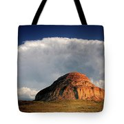 Castle Butte In Big Muddy Valley Of Saskatchewan Tote Bag by Mark Duffy