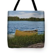 Cedar Canoe Tote Bag by Kenneth M  Kirsch