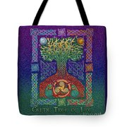 Celtic Tree Of Life Tote Bag by Kristen Fox