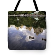 Central Park Pond With Two Ducks Tote Bag by Madeline Ellis