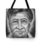 Cesar El Santo Tote Bag by Roberto Valdes Sanchez