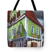 Cesky Krumlov Old Street 3 Tote Bag by Yuriy  Shevchuk