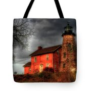 Charlotte-genesee Lighthouse  Tote Bag by Joel Witmeyer