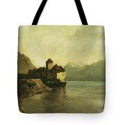 Chateau De Chillon Tote Bag by Gustave Courbet