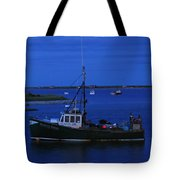 Chatham Pier Fisherman Boat  Tote Bag by Juergen Roth